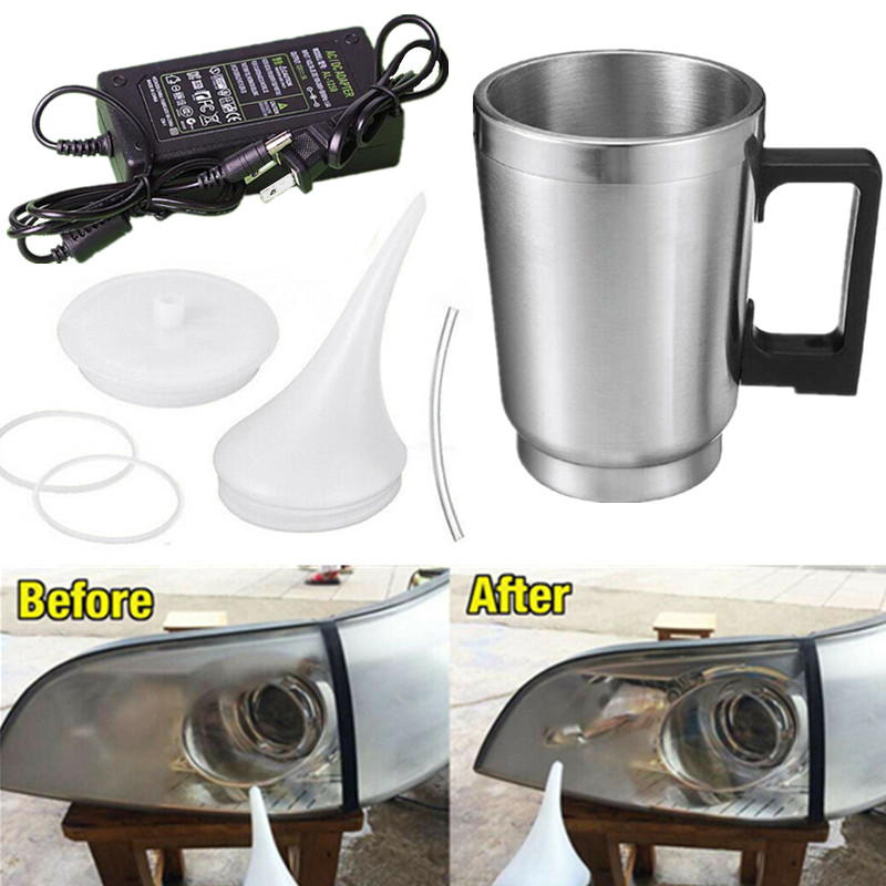 Headlight Polishing Cup Car Headlight Refurbished Atomizing Cup Lens Restoration Kit Restorer System Polishing Cleaning Tool