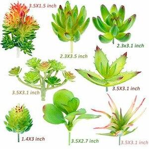 Image 2 - Confezione da 24 piante grasse artificiali pianta da giardino miniatura falso Cactus floreale fai da te casa succulente finte piante finte succulente finte