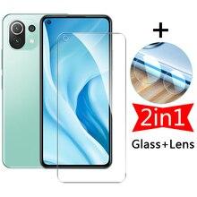 2in1 Xiomi 11lite Screen Protective Glass Camera Lens Protector On The For Xiaomi Mi 11 Lite 5G Mi11 Lite Xiaomi11 Tempered Film