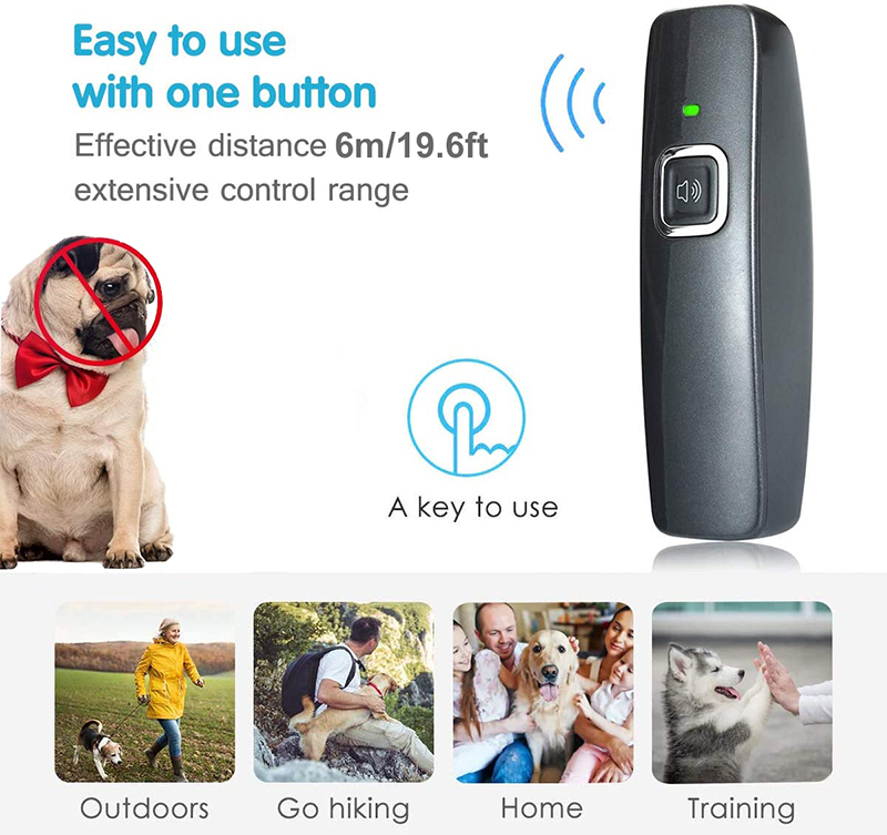 Benepaw Ultrasonic Anti Barking Device Wrist Strap Hand-Held Dog Repeller Bark Control Pet Behavior Training 6m/19ft Range 2