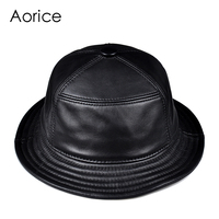 Aorice man real leather cap hat 2019 genuine leather sun caps fishing men hats HL901