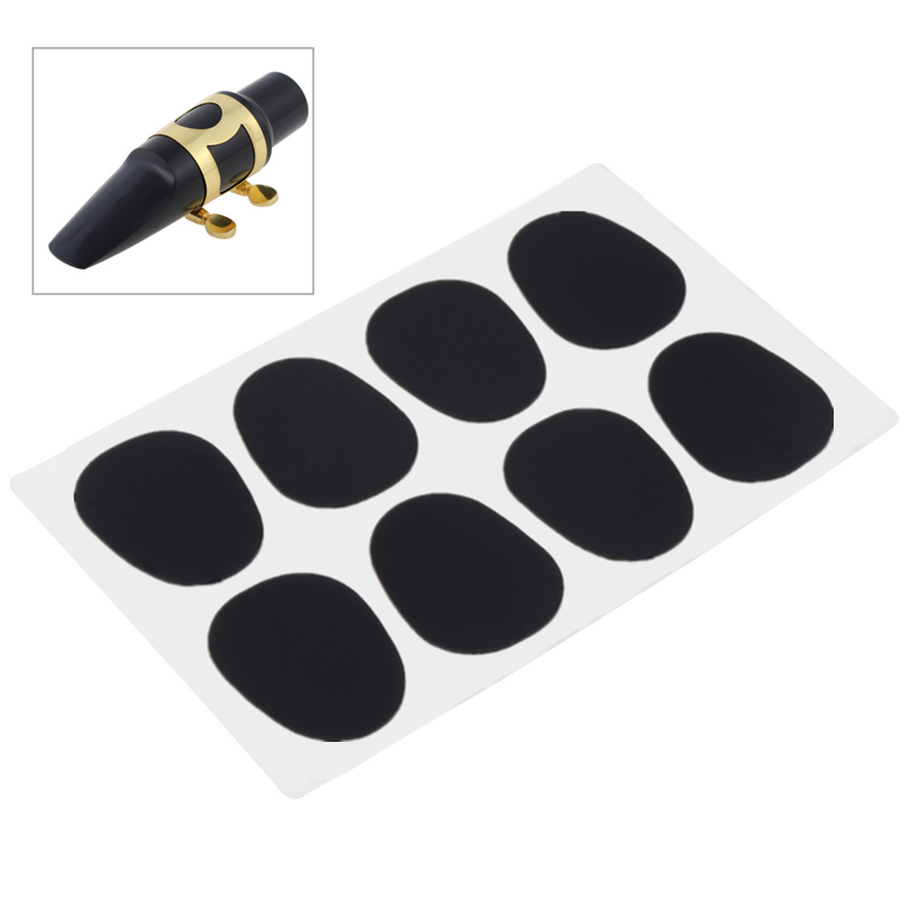 8pcs 0.8mm Accessories Cushions Silicone Mouthpiece Pad Black Small Portable Round Reduce Vibration Saxophone Patches Alto Tenor