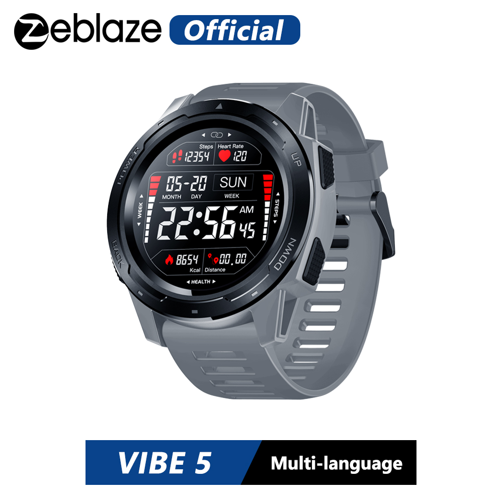 Zeblaze VIBE 5 Heart Rate Monitoring Smart Watch Color Display Long Battery Life Smartwatch Multi-sports Modes Fitness Tracker(China)