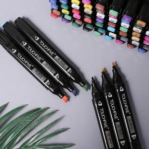 Image 3 - TOUCHFIVE 80 marcadores de colores Manga, rotuladores de dibujo a base de Alcohol, boceto, punta de fieltro, pincel doble oleoso, suministros de arte para estudiantes