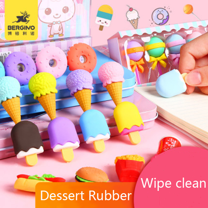 Cartoon Eraser Dedicated Creative Fruit Eraser Cute Kindergarten Stationery Prize Gift Children School Supplies