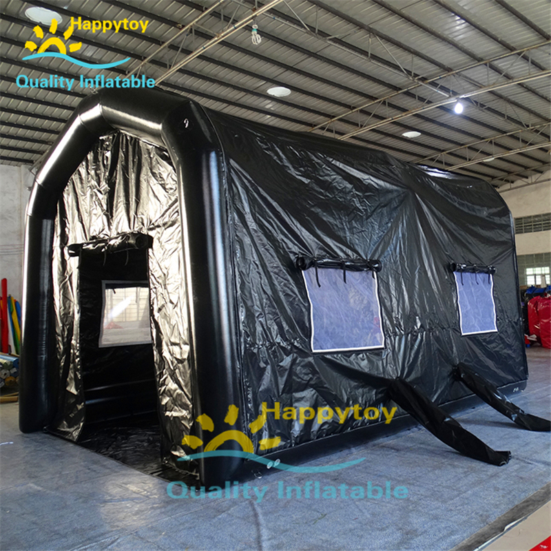 Air Tight One Time Blower Inflatable Paint Spray Booth Tents For Can Painting