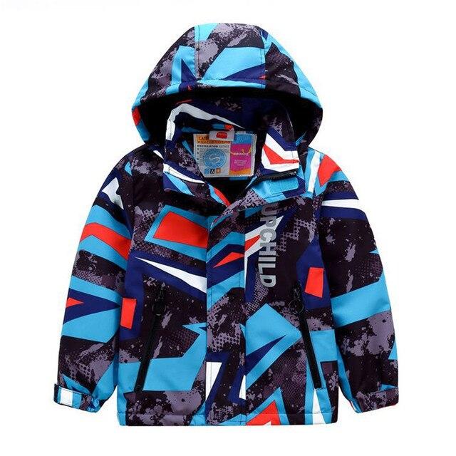 Sportyเรขาคณิตพิมพ์ชุดเด็กขนแกะเด็กเสื้อเด็กหญิงเสื้อเด็กOuterwearสำหรับ98 152ซม.