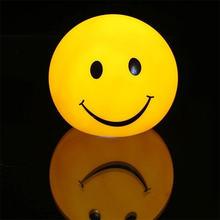 Светодиодный круглый рисунком в виде улыбающихся рожиц; Ночной