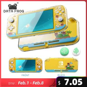Прозрачный жесткий защитный чехол DATA FROG для Nintendo Switch Lite, консоль с защитой животных, прозрачный чехол для Switch lite