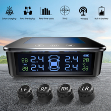 AN 11 Solar USB Car TPMS Voice Alarm Touch Switch Auto Tire Pressure Warning Tyre Temperature Monitoring System