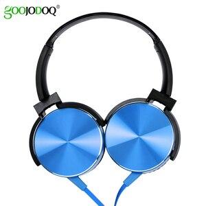 Image 1 - Écouteurs Extra basses 3.5mm AUX casque de jeu pliable Portable réglable écouteur pour ordinateur PC téléphones Auriculares