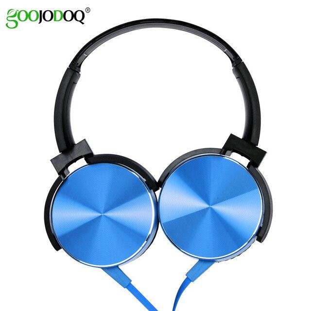 Écouteurs Extra basses 3.5mm AUX casque de jeu pliable Portable réglable écouteur pour ordinateur PC téléphones Auriculares