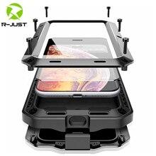 Ağır koruma Doom zırh Metal alüminyum telefon kılıfı için iPhone 12 mini 11 Pro XS MAX XR 6 6S 7 8 artı X darbeye dayanıklı kapak