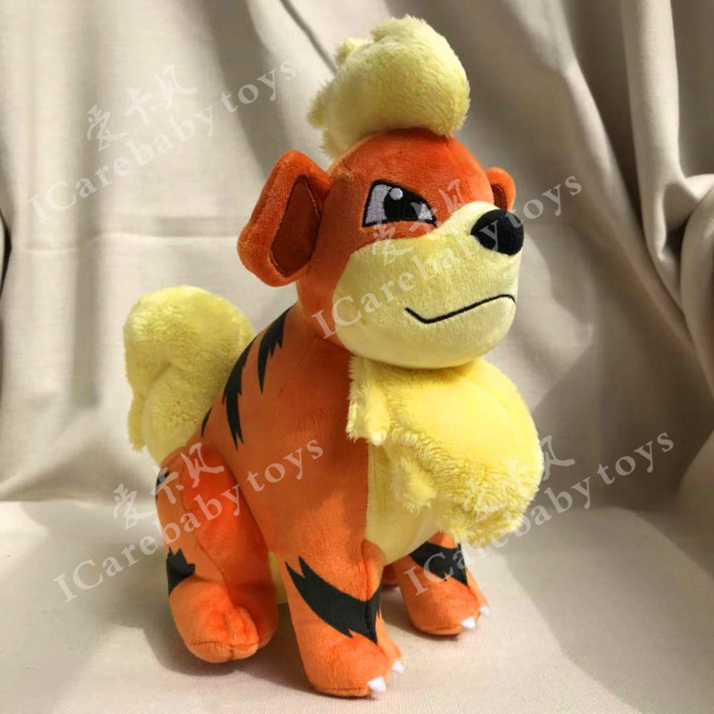 26cm Growlithe Plush Toys Dolls Cute Anime Growlithe Pendant Soft Stuffed Toys For Children Kids Birthday Christmas Gift