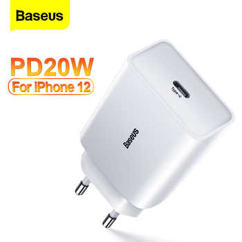 Baseus PD 20W/18W Fast Charging USB C Charger For iPhone 12 Pro Max Mini 11 Xiaomi Quick Charge QC 3.0 Type C Wall Phone Charger baseus 120w gan sic charger pd type c fast charger quick charge 4 0 qc 3 0 usb c charger fast charging for iphone xiaomi macbook