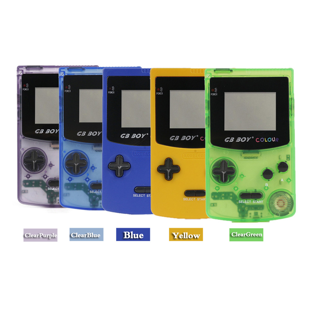 5PCS/Lot GB Boy Colour Color Handheld Game Player 2.7 Portable Classic Game Console Consoles With Backlit 66 Built-in Games image