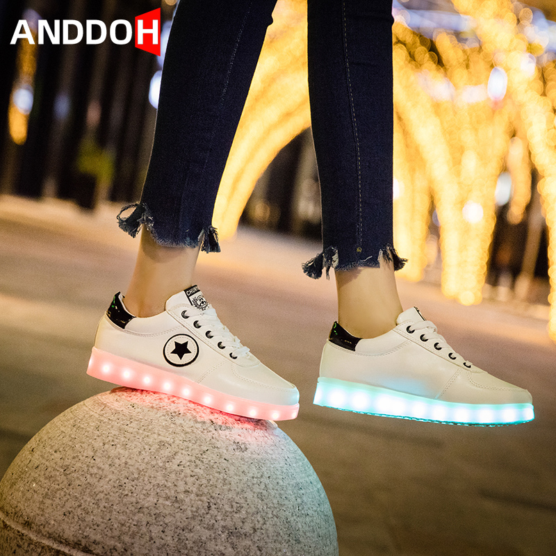 Size 30-43 Children Casual Shoes Kids Led Light Up Shoes Girls Boys Sneakers With Luminous Sole Children's Glowing Sneakers