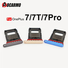 Aocarmo Single Dual SIM For OnePlus 7 Pro 7T 1+7 Nano Sim Card Holder Tray Slot Replacement Part