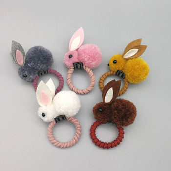 цена на A lady and children's universal cute felt three-dimensional rabbit rabbit rabbit ears hair clip hair loop hair accessories