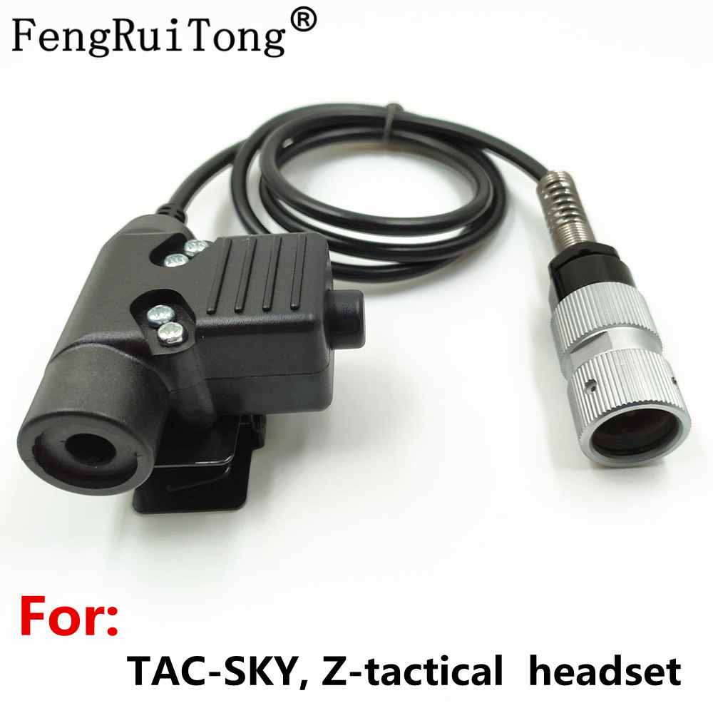 FengRuiTong PTT For  Z-tactical Headset HD01 HD03 , To  PRC-148 152A PRC-152  Walkie Talkie  Tactical U94 PTT 6pin