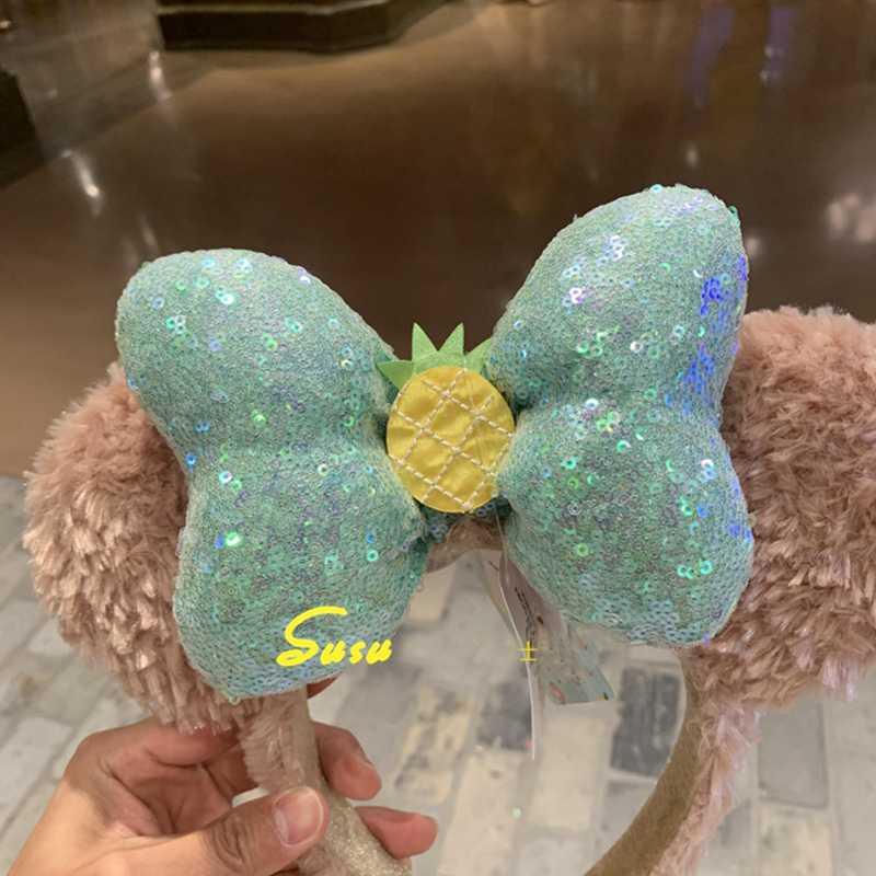 New Original Summer Fruit Series Duffy Shirley Bow Cute Hair Hoop Sequin EARS COSTUME Headband Cosplay Plush Adult/Kids Headband