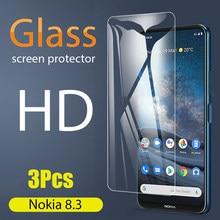 3 sztuk 9H szkło hartowane etui na telefony dla Nokia 8.3 5G Screen Protector dla Nokia 8.3 Nokia8.3 akcesoria do telefonów Film bezpieczeństwa dla 8.3