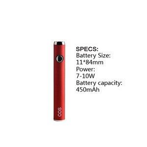 Image 3 - Вейп ручка COS kit CBD MOD 2020 с аккумулятором предварительного нагрева 450 мАч, электронные сигареты с коннектором 510 для начинающих с толстым маслом