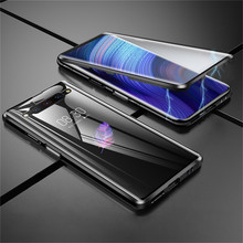 For ZTE Nubia Z20 Phone Protective Case Aluminum Metal Bumper & 9H Tempered Glass Magnet Case Cover Metal Frame Shell Case