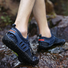 Damyuan Summer Breathable Men Hiking Shoes Hollow Mesh Outdoor Men Sneakers Climbing Shoes Men Sport Shoes Quick-dry Water Shoes цена 2017