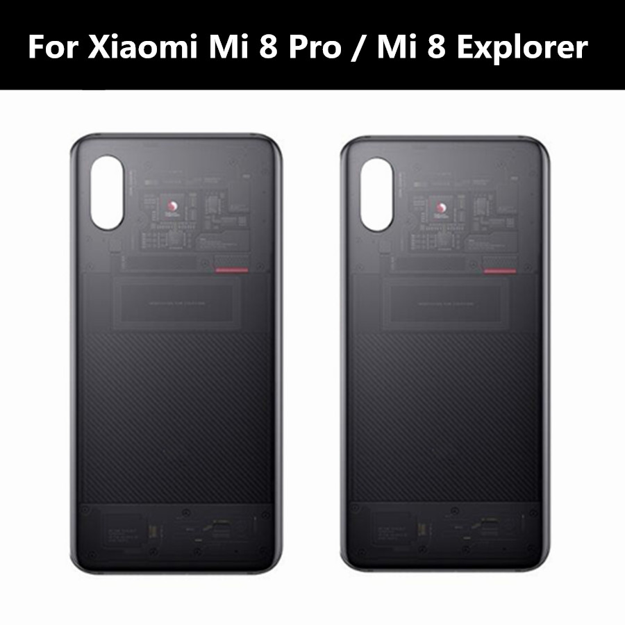 For Xiaomi Mi 8 Explorer Battery Cover Mi8 Pro Back Glass Rear Housing Door Case Replacement For Xiaomi Mi 8 Pro
