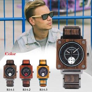 Image 5 - BOBO VOGEL Top Marke Luxus herren Uhr Quarz Holz Uhr Frauen Großes Geschenk relogio masculino Akzeptieren Logo Drop Verschiffen v R14