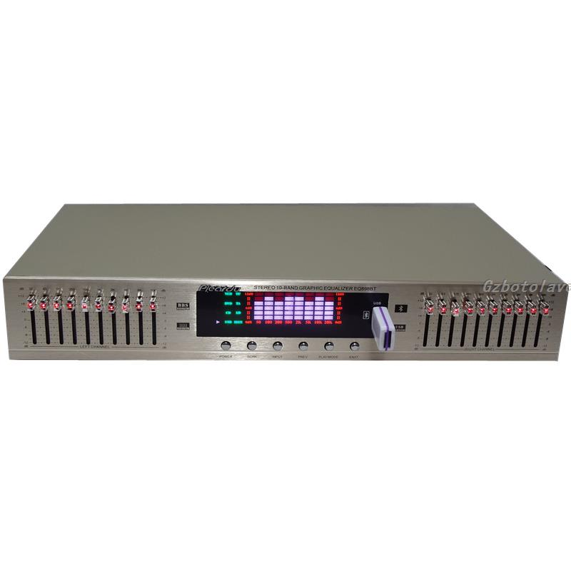 2020 new arrive HIFI Digital HD stereo preamplifier Equalizer built in USB Bluetooth home stage equalizer dual 10 segments Amplifier    - AliExpress