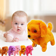 Pet Dog Toys For Children With Music Light Robotic Cute Animal Electronic Dog Puppy Kids Toys Christmas Birthday Gift 2019 New(China)