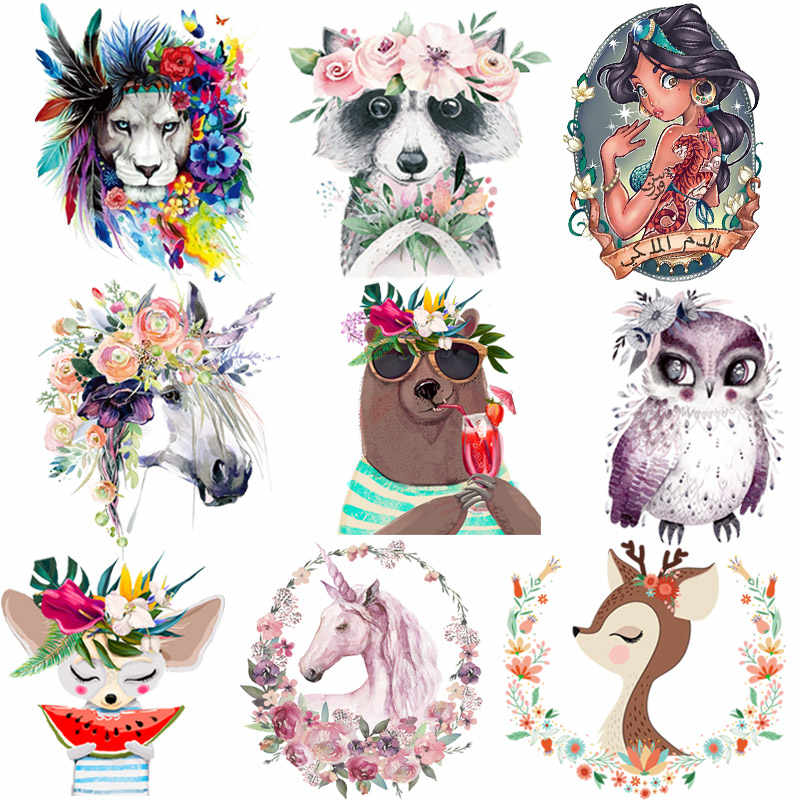 Cartoon Dier Patches Kleding Patches Wasbare Ijzer Op Warmteoverdracht Fashion Diy Accessoire Stickers Iron Sticker Voor Kleding