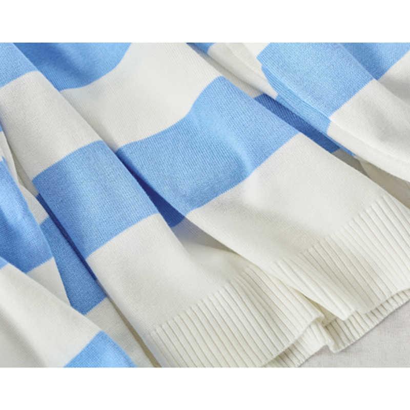 Tigena Contrast Kleur Losse Gestreepte Trui Vrouwen Jumper 2020 Fall Winter Koreaanse Kawaii Leuke Trui Trui Vrouwelijke Knitwear