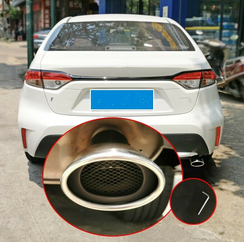 For Toyota Corolla Sedan 2020 2021 Exhaust Muffler Outlet End Rear Tail Pipe car accessories