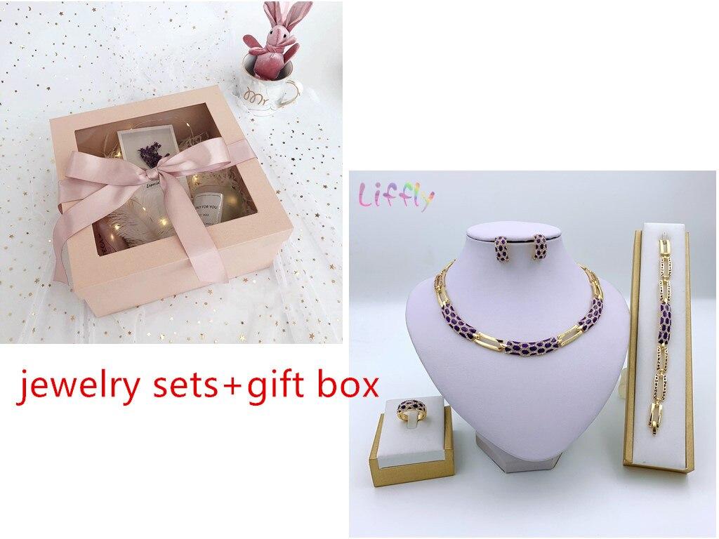 purple set and box