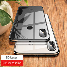 For Xiaomi Mi 8 Case 3D Laser Plating Luxury Soft TPU Clear Cover For Xiomi Xiaomi Mi 8 SE Mi8 Explorer Crystal Phone Cases(China)