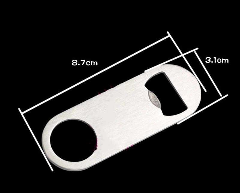 1pc Mini Durable Beer Bottle Opener Stainless Steel Flat Speed Bottle Cap Opener Remover Bar Blade Kitchen Tool