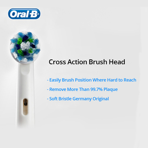 Oral B Replacement Toothbrush Head Cross Action Brush Heads Refill of Oral B Rotating Electric Toothbrush