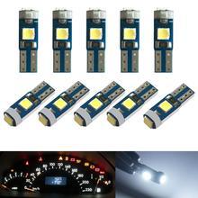 100x12V canbus T5 58 74 286 W1.2W Super brillante 3030 LED 3SMD cuña LED luz tablero de instrumentos de coche Panel de instrumentos bombilla de lámpara