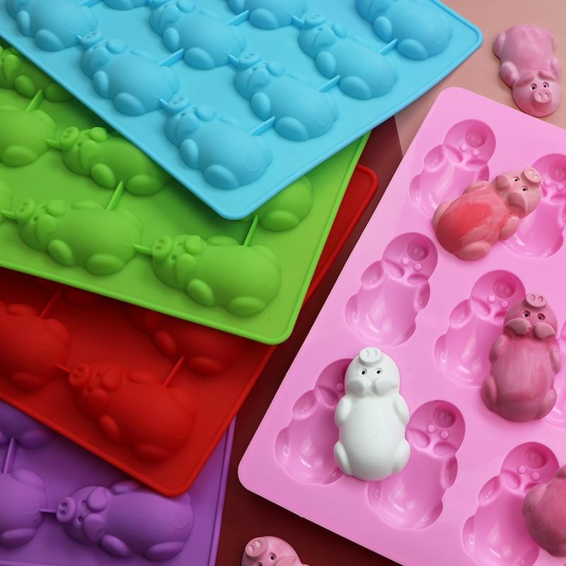 3D Cake Silicone Mold Fondant Mould Elephant Pattern Handmade DIY Sugar Craft L