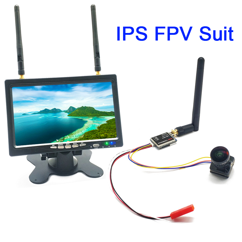 5,8G 40CH 7-дюймовый HD IPS 1024*600 монитор с 600 мВт передатчик + Starlight HDR OSD 1,66 мм объектив 1200TVL камера для RC Drone