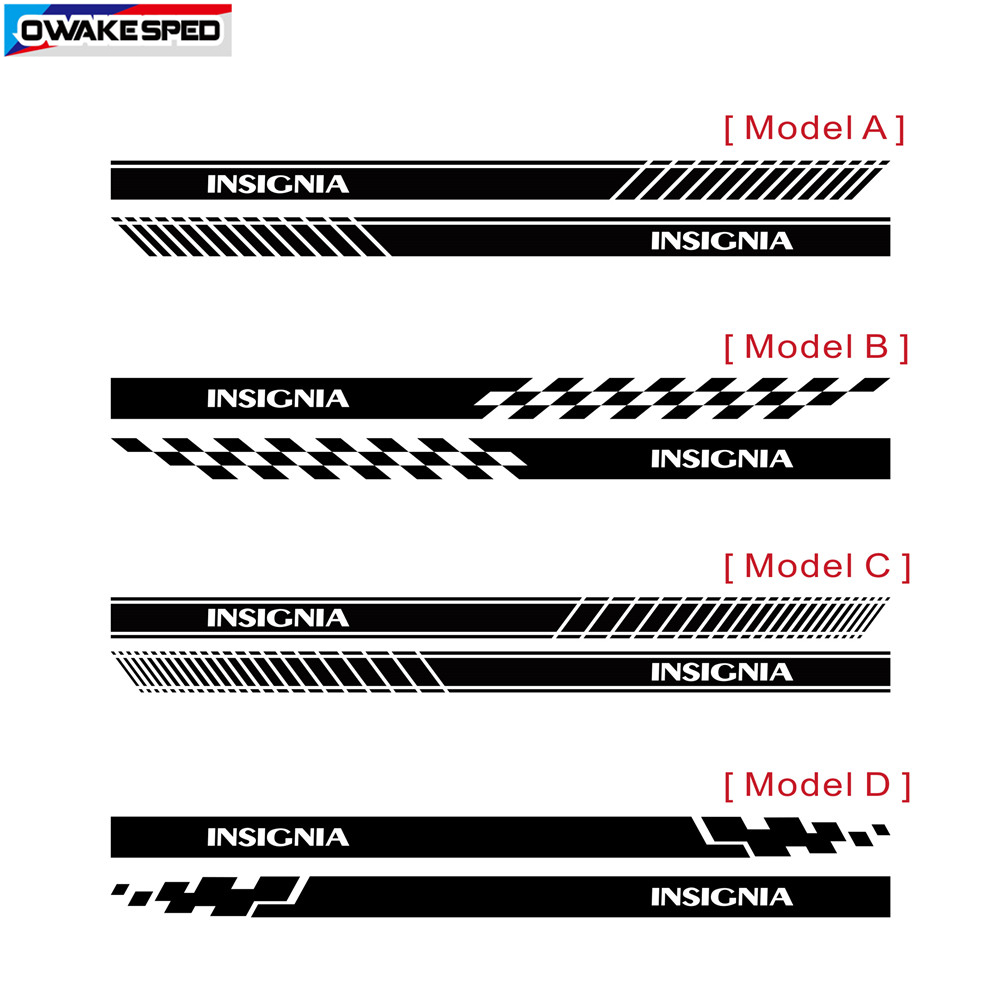cheapest For Opel Insignia OPC Sport Stripes Car Styling Door Side Skirt Sticker Auto Body Decor Vinyl Decals Exterior Accessories