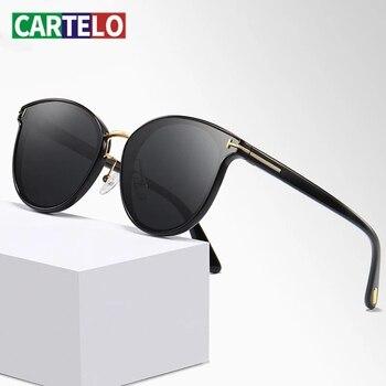 CARTELO Fashion New Polarized Square Sunglasses Men Metal Frame Male Sun Glasses fishing Driving Brand