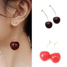 Anime Earrings Red Heart Earrings Cherry Earrings Polnareff Earrings PenTip Earrings Earrings For Women Party Jewelry