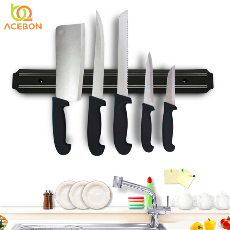 Magnetic Knife Holder High Quality Powerful Wall-Mounted Stainless Steel 304 Block Magnet Knife Holder Rack Stand For Knives