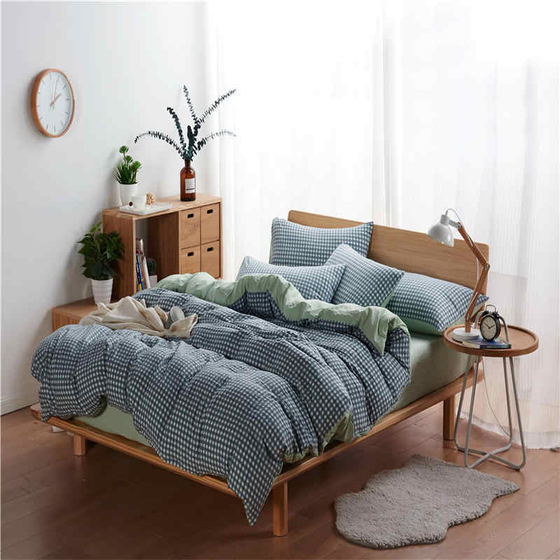 duvet cover set Pastoral bed sheet AB side duvet cover 2019 bed 5 size 4pcs/set Classic bedding set grey blue flower bed linen