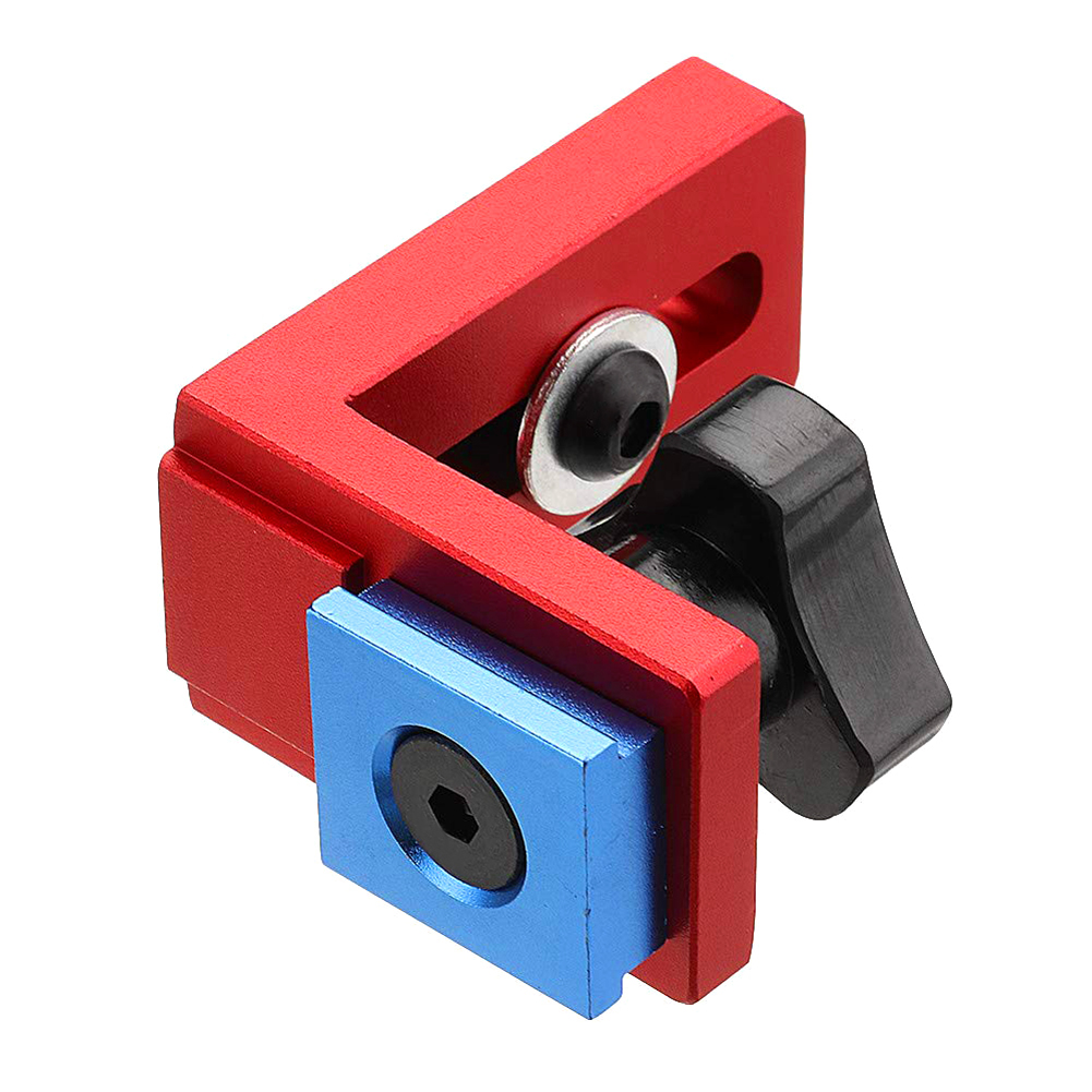 Woodworking Chute Backing Connector T-track Slot Miter Gauge Machinery Part Module Track Stop Locator Rail Retainer