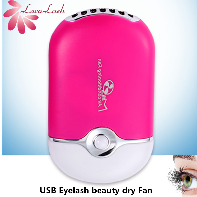 Mini USB Handheld Eyelash Fan Air Conditioning Blower Glue Grafted Eyelashes Dedicated Dryer Wholesale Eyelash Beauty Dry Tools